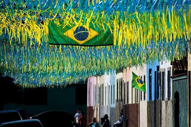 calles de brasil durante copa mundial
