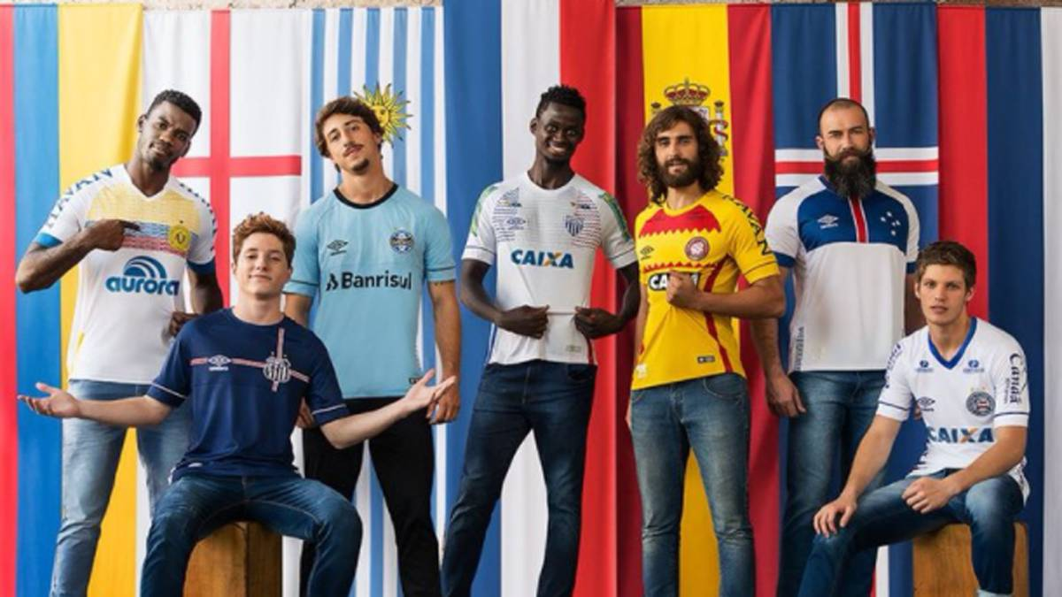 jugadores de clubes de brasil con camisetas umbro paises mundial 2018