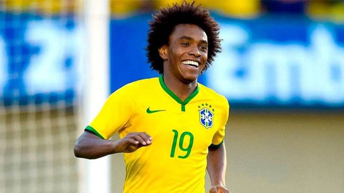 Willian mete gol en rusia 2018